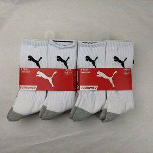Puma 12-Pack Crew Socks Half Terry Mid Calf White